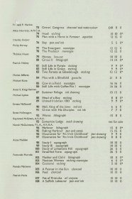 Graphic art exhibition guide: List of exhibits (Page 3 of 4)
